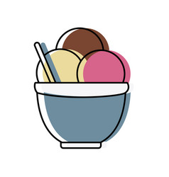 ice cream in cup vector image vector image