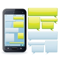 Phone Chatting Template Image vector image vector image