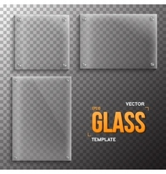 Set of Realistic Glass Frame Template vector image vector image