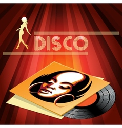 Disco club poster design vector image vector image