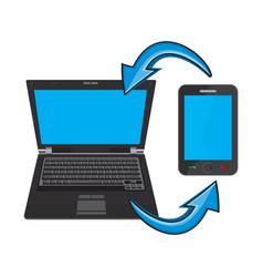 laptop and a smartphone vector image vector image