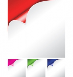 paper folded vector image