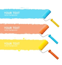roller brush for text vector image vector image