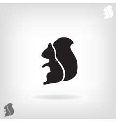 Squirrel isolated on a white backgrounds vector image vector image