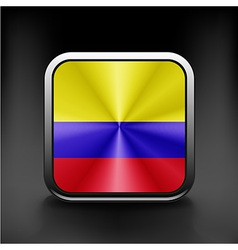 3d ball with flag of colombia high resolution 3d vector