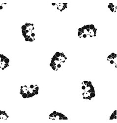 cell virus pattern seamless black vector image vector image