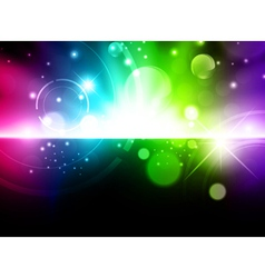 glowing multicolored background vector image vector image
