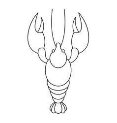 lobster icon outline style vector image vector image
