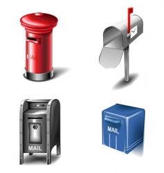 mailbox icons vector image