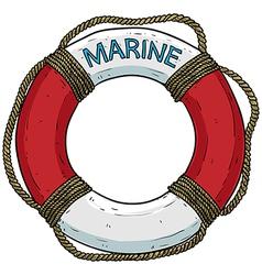 marine theme lifebuoy vector image