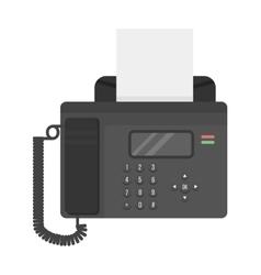 Office phone fax technology vector