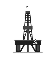 oil platform in the sea oil industry production vector image vector image