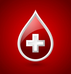 Red blood medical icon vector