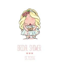 Romantic announcement for bridal shower party vector image