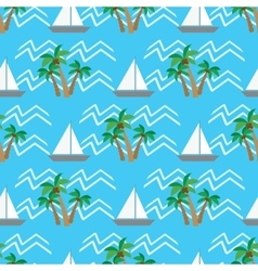 Seamless pattern tropical coconut palm trees and vector image vector image