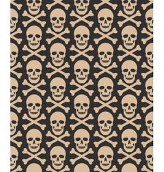Skull seamless dark pattern vector image vector image