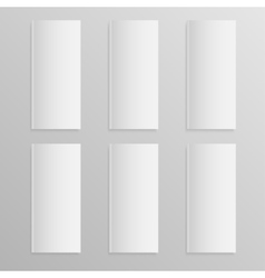 Blank empty magazine or book mock up six vector