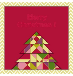 Christmas Greeting Card with Geometric Tree vector image vector image