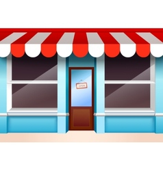 Empty store front vector image