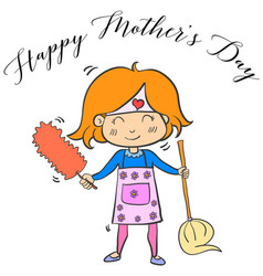 happy mother day cartoon collection vector image