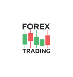 logo candlestick trading chart analyzing in forex vector image