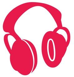 Red Headphones vector image vector image
