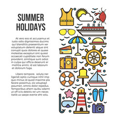 summer holidays information list vector image