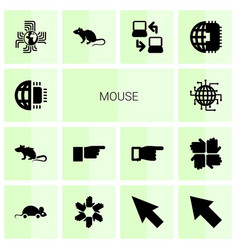 14 mouse icons vector image