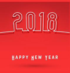 2018 happy new year cover vector image