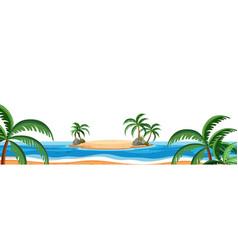 a summer beach scene vector image
