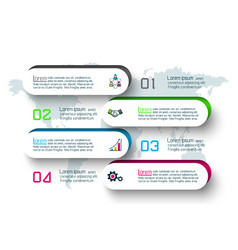 abstract business infographics step options vector image