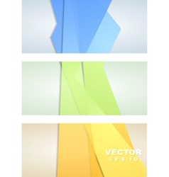 Abstract corporate banners vector