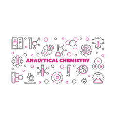 Analytical chemistry outline vector