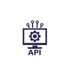 api application programming interface icon vector image