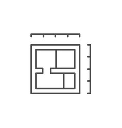 architectural blueprint line outline icon vector image