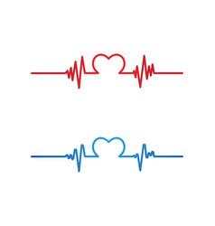 Art design heartbeat pulse vector