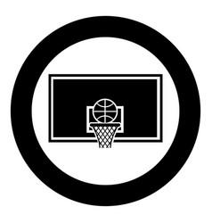 Basketball hoop and ball backboard and grid vector