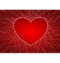 Beautiful heart of luminous garlands vector image vector image