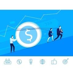 business concept Team raises vector image