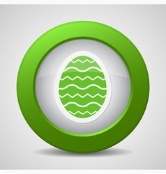 button with green Easter egg vector image