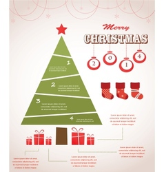 christmas infographic icon set vector image