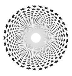 circle stars pattern vector image