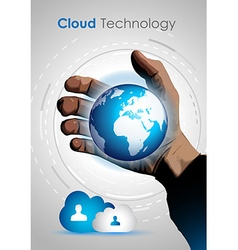 Cloud technology concept image to show data vector