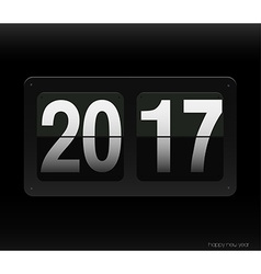 Count down clock with 2017 year vector