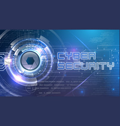 cyber security theme with futuristic eye vector image