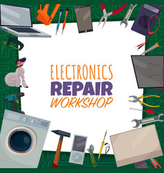 Electronics repair poster vector