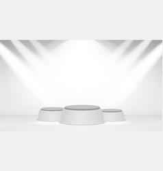 empty white photo studio interior background vector image
