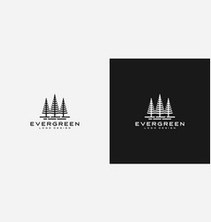 evergreen logo design vector image