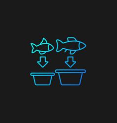 Fish sorting gradient icon for dark theme vector