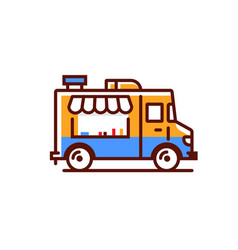 Food truck logo icon foodtruck kitchen vector